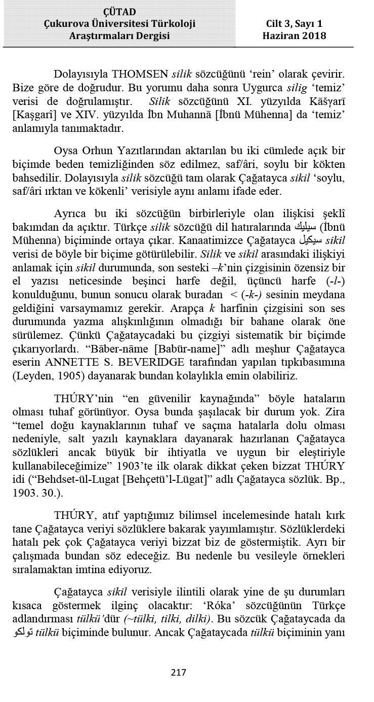 CUTAD Cukurova_Universitesi_Turkoloji_Ar