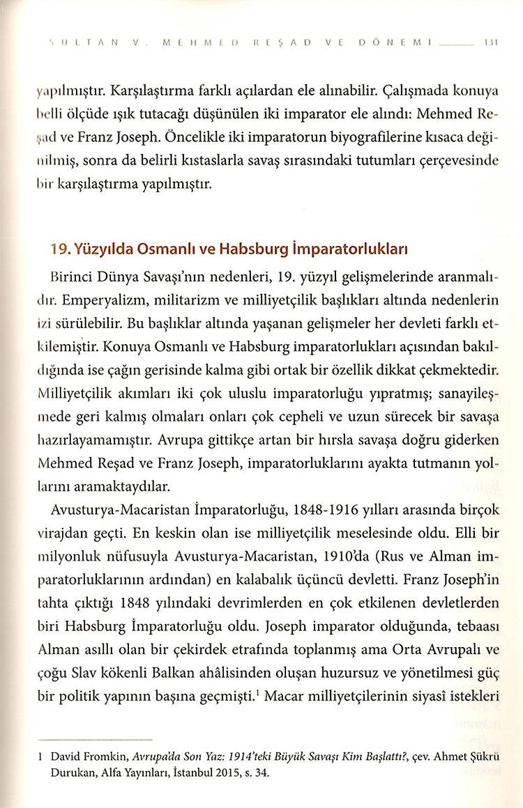 Savaştaki İmparatorlar: Mehmed Reşad ve Franz Joseph (1914-1918)
