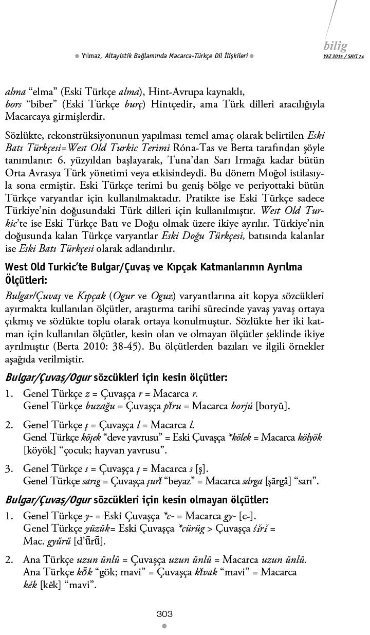 Altayistik Baglaminda_Macarca_Turkce_Dil